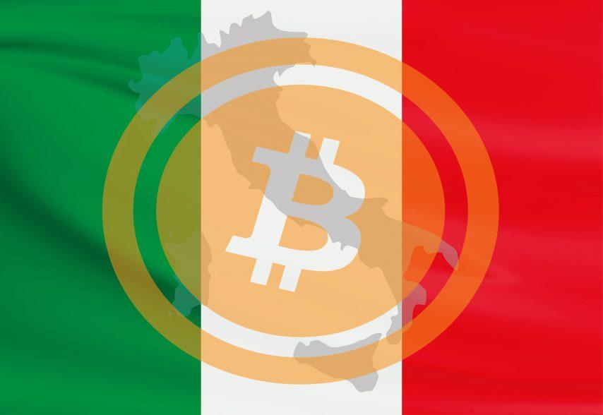 Италия флаг Биткоин