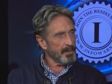Джон Макафи (кадр из интервью)