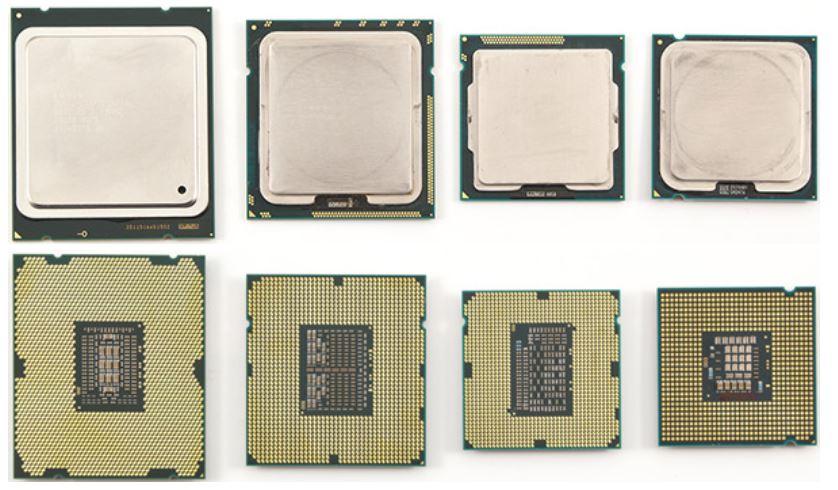 Процессоры Intel с разными сокетами