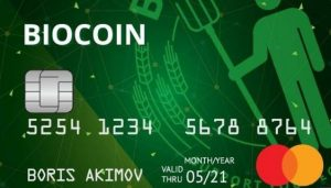 Мультивалютная карта Talkbank BioCoin