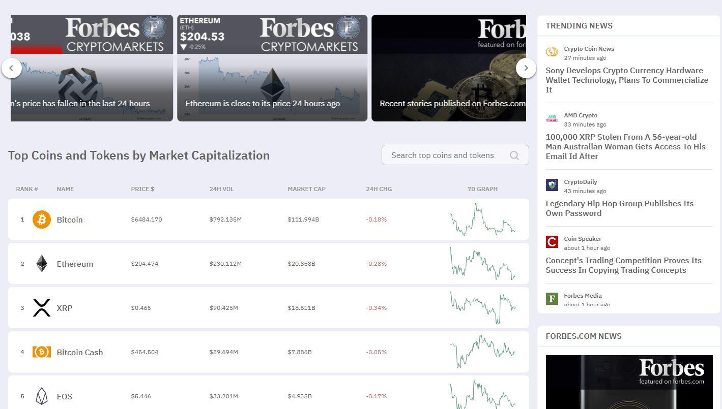 Forbes CryptoMarket