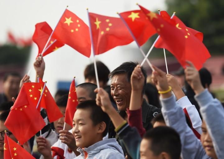 Довольные жители КНР