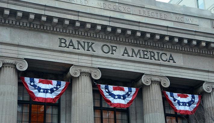 Bank of America теперь собирается использовать блокчейн для работы с фиатом