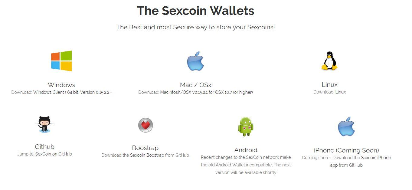 Кошельки Sexcoin