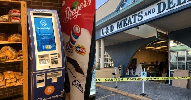 В попытке украсть биткоин-банкомат воры въехали в магазин